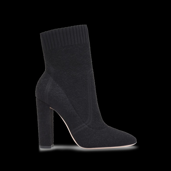 e1a1f19e3804 Gianvito Rossi Shoes - Gianvito Rossi Isa Boucle Knit Sock Ankle Booties